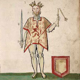 Depiction of King John Balliol